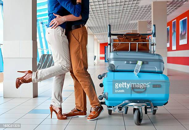 air travel - leg kissing stock photos and pictures