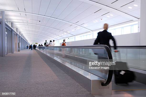 Air travelers on high speed people mover