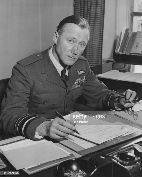 Air Vice Marshal Edmund Hudleston of the RAF the newlyappointed Vice Chief of the Air Staff at his desk at the Air Ministry UK 26th September 1957 He...