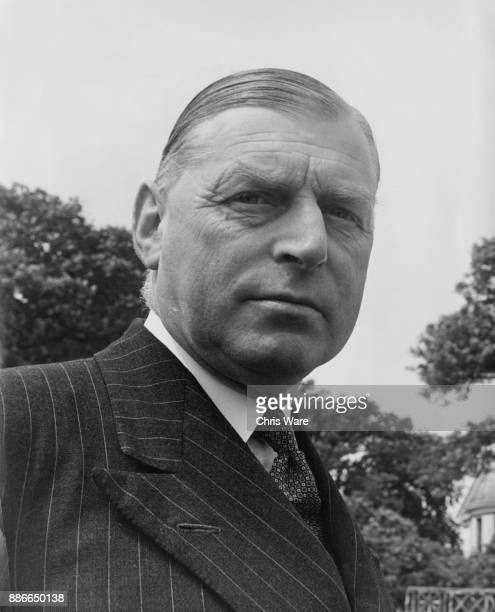 Air Vice Marshal Geoffrey Rhodes Bromet KBE CB DSO of the RAF Lieutenant Governor of the Isle of Man August 1950