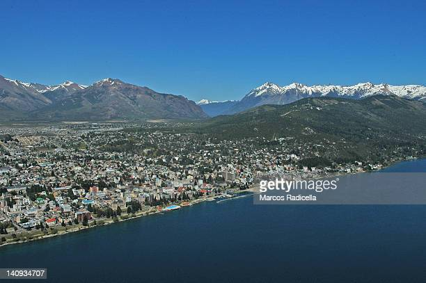 air view of bariloche, patagonia - radicella stock pictures, royalty-free photos & images