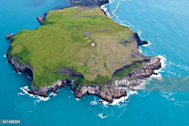 Air view of Heimaey island