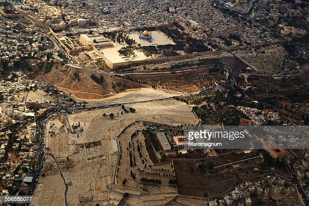 air view of the old city - historical palestine stock pictures, royalty-free photos & images