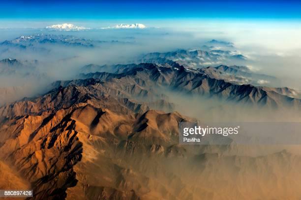 Air view on Khunjerab Pass,Tashkurgan,Muztag Ata,Xinjiang,China