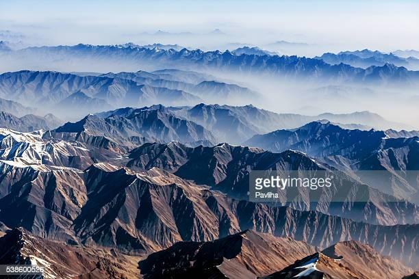 空気 の眺め、パキスタン山脈に沿って大阪