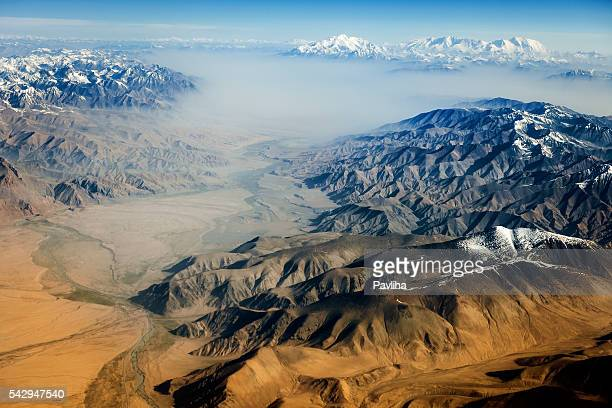 Air view , Pakistan mountains along the way to Osaka