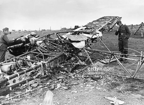 2WW Air War Battle of Britain Shot down british fighter plane Northern france August 1940