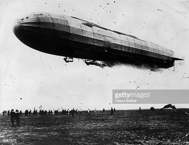 The L2 a German naval zeppelin during World War I