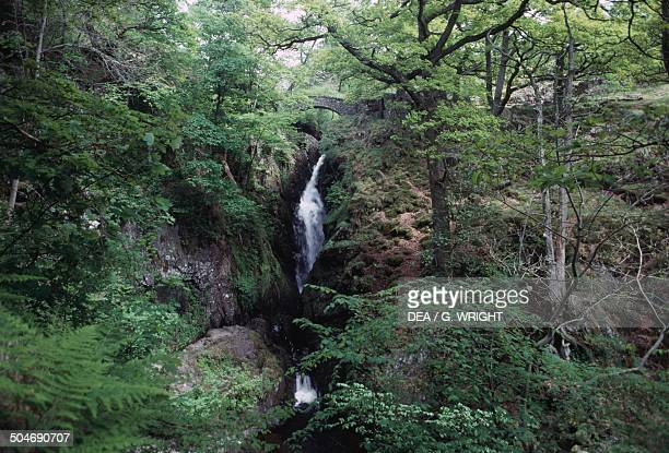 Aira Force waterfall Lake District England United Kingdom