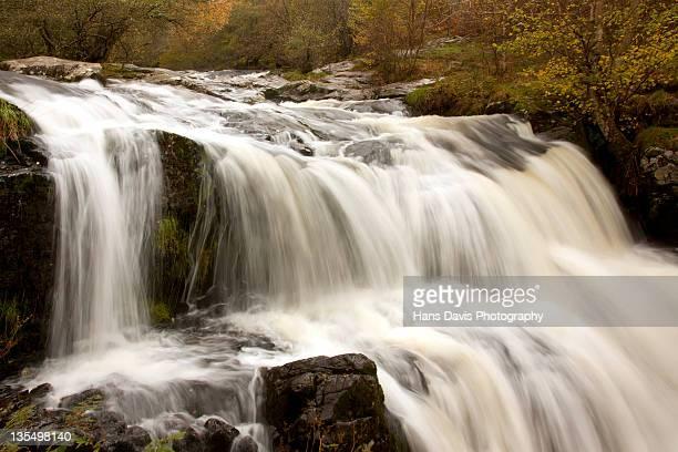 Aira force waterfall near Ullswater in full flow
