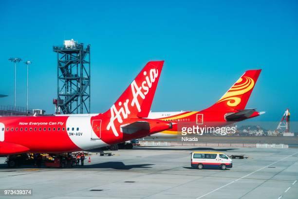 AirAsia Airbus in Hongkong