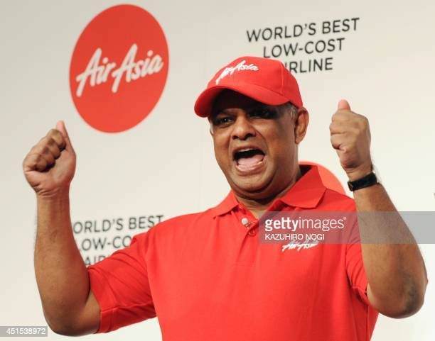 AirAsia Group CEO Tony Fernandes speaks during a press conference in Tokyo on July 1 2014 AirAsia's feisty chief executive on July 1 declared the...