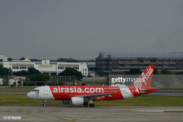 Airasia plane prepare takeoff at Don Mueang International Airport Bangkok's Thailand 7 January 2019
