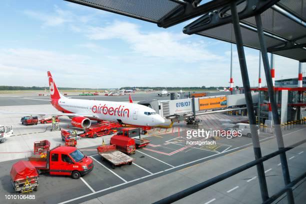 Airberlin Boeing 737 at Hamburg International Airport