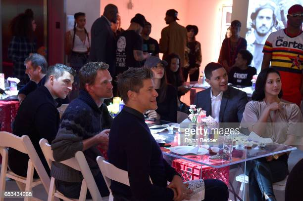 Airbnb CEO Brian Chesky Neil Patrick Harris David Burtka Elissa Patel Trevor Noah and Jordyn Taylor attend Experience Harlem hosted by Airbnb and...