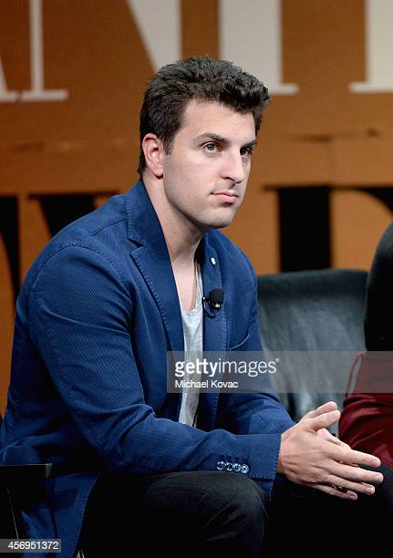 Airbnb CoFounder and CEO Brian Chesky speaks onstage during Generation Next at the Vanity Fair New Establishment Summit at Yerba Buena Center for the...