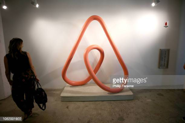 Airbnb signage on display at WIRED25 Work Inside San Francisco's Most Innovative Workplaces on October 12 2018 in San Francisco California