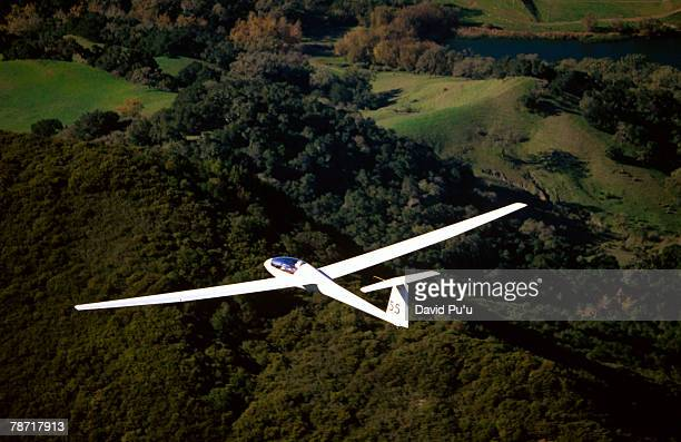 airborne sailplane - gliding stock photos and pictures