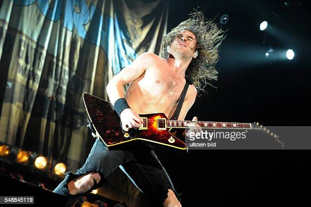 Airbourne Band HardRock Australia Singer and Guitarist Joel O'Keeffe performing at Wacken Open Air WOA in Wacken SchleswigHolstein Germany...