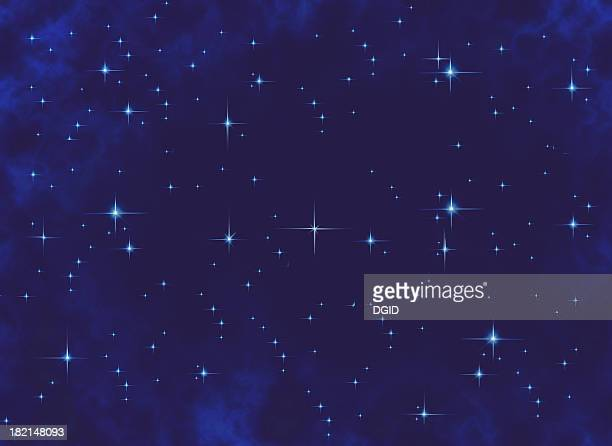 airbrushed background - stars at night