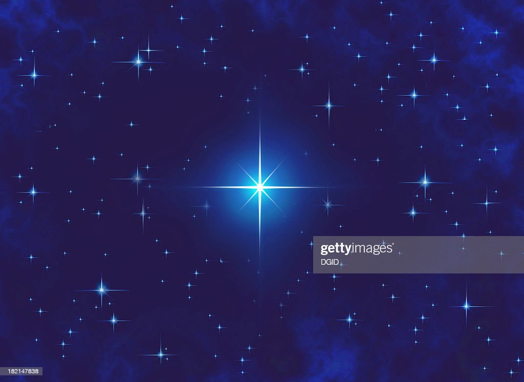 airbrushed sky at night filled with stars : Stock Photo