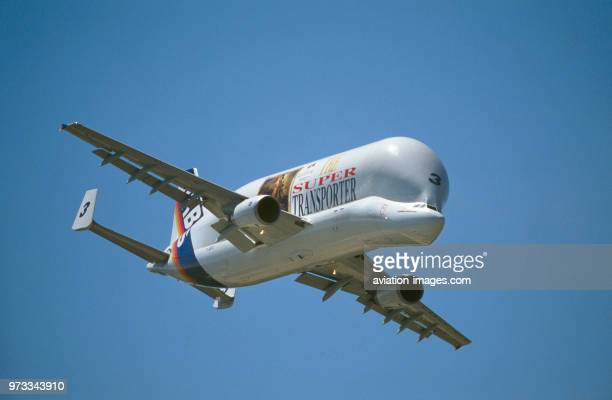 Airbus A300600ST Beluga in the flyingdisplay at the 1999 Paris Airshow
