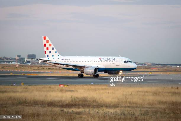 Airbus A319 of Croatia airline is taking off
