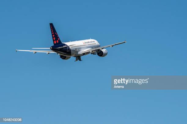 Airbus A319111 from Brussels Airlines taking off from BrusselsNational airport Zaventem Belgium
