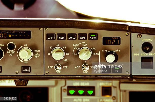 Airbus A320 flight deck.