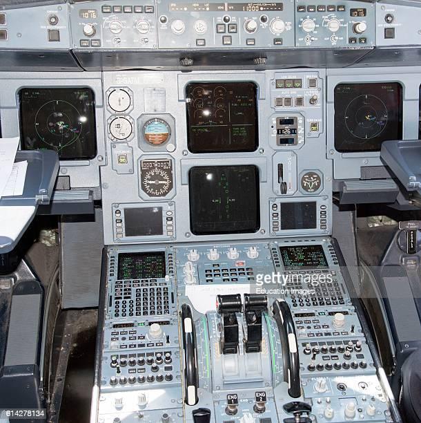 Airbus A320 Flightdeck Instrumentation on The Flightdeck Of a Airbus A320 Passenger Shorthaul Jet Aircraft
