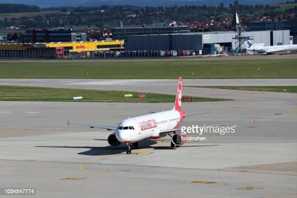 LAUDAMOTION Airbus A321 at Stuttgart airport