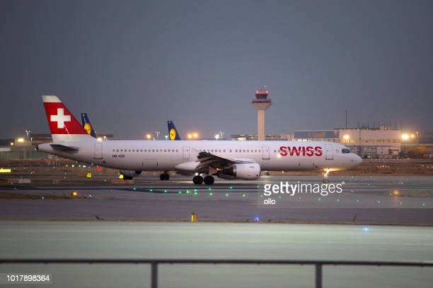 Airbus A321-111 von SWISS Airlines hebt ab