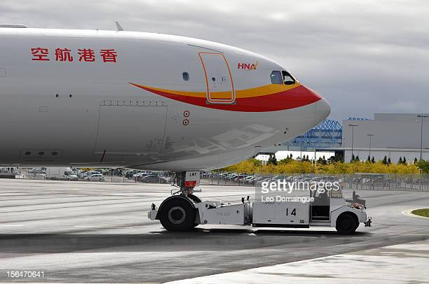 BLNY Airbus A330243F Hong Kong Airlines 2x RR Trent 772B60 Engines Leased from Aircastle Delivered TLSFJRHKG on delivery Photo taken at Airbus...