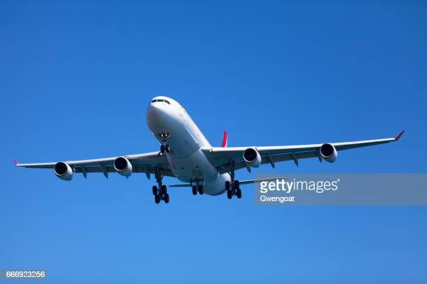 airbus a340-300 - air mauritius - airbus stock pictures, royalty-free photos & images