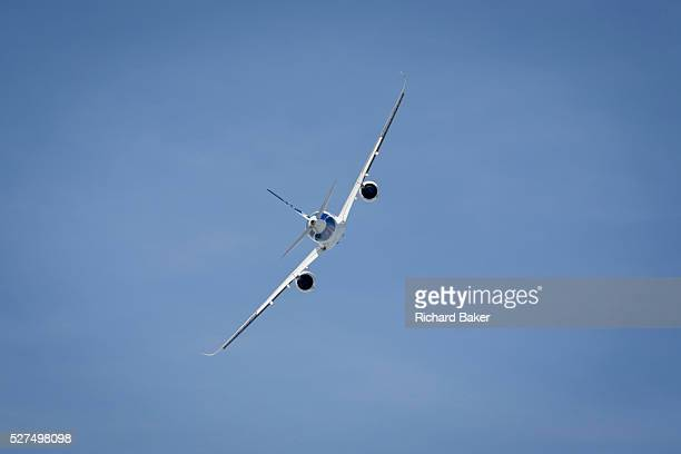 Airbus A350 XWB demonstrating flying skills at the Farnborough Air Show England The A350 XWB is the only allnew aircraft in the 300400 seat category...