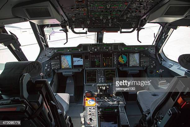 airbus a400m cockpit - airbus stock pictures, royalty-free photos & images