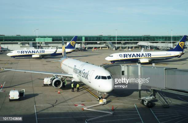 airbus airbus a321-231 - thomas cook airlines reg. yl-lcq - inexpensive stock photos and pictures