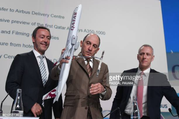 Airbus Aircraft Chief Excutive Officer Fabrice Bregier Group Chief Executive of Qatar Airways Akbar Al Baker RollsRoyce President of Civil Aerospace...