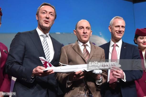 Airbus Aircraft Chief Excutive Officer Fabrice Bregier Group Chief Executive of Qatar Airways Akbar Al Baker RollsRoyce President of Civil Aerospace...
