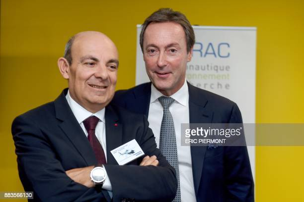 Airbus COO and President Commercial Aircraft Fabrice Bregier and Dassault Aviation Chief Executive and French Aerospace Industry Association GIFAS...