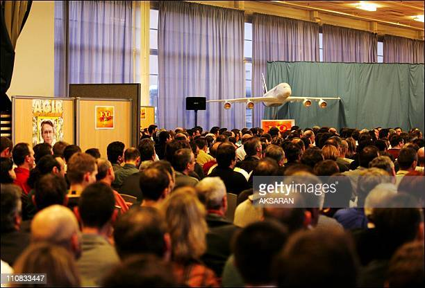 Airbus Power 8 In Toulouse France On February 22 2007 The general secretary of Force Ouvriere JeanClaude Mailly in Toulouse On the verge of the...