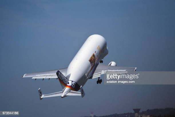 Airbus Transport International Airbus A300600ST Beluga in the flyingdisplay at the 1999 Paris Air Show