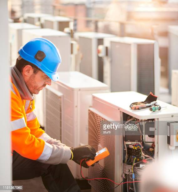 aircon inspection - air conditioner stock pictures, royalty-free photos & images