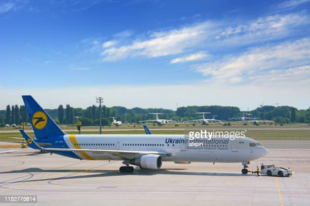 uia aircraft, boryspil - ukraine stock pictures, royalty-free photos & images