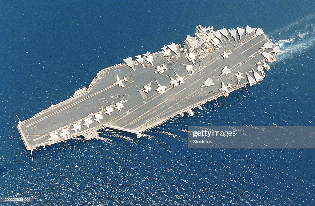 Aircraft carrier USS George Washington and Carrier Air Wing Seven : Stock Photo