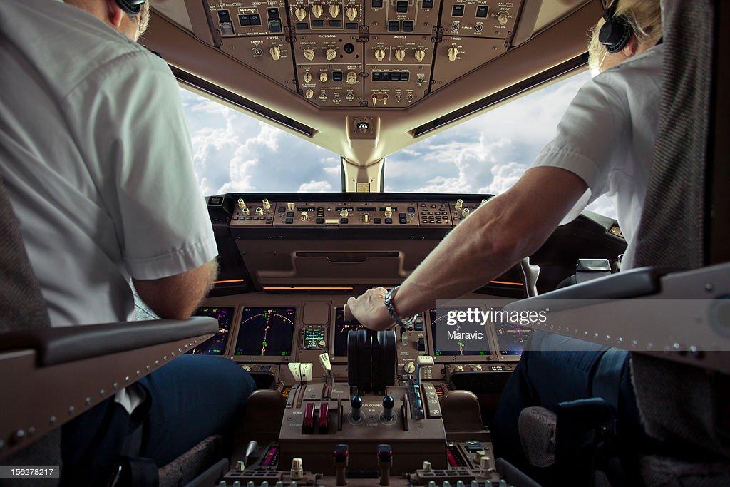 Aircraft Cockpit : Stock Photo