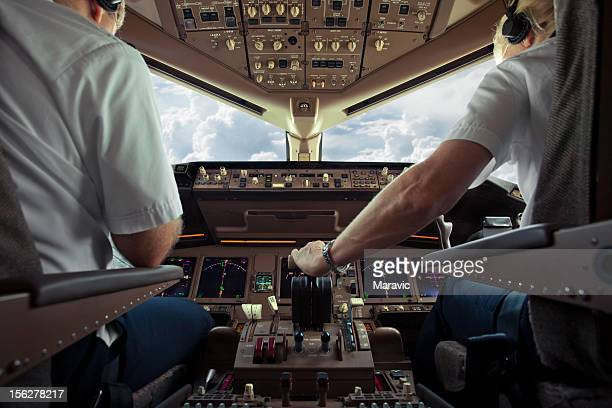 aircraft cockpit - aircraft stock photos and pictures