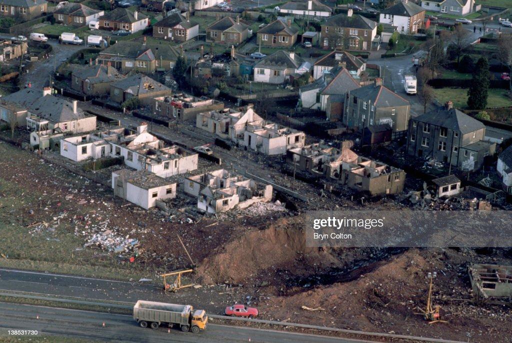 Pan Am Flight 103 Explodes Over Lockerbie : News Photo