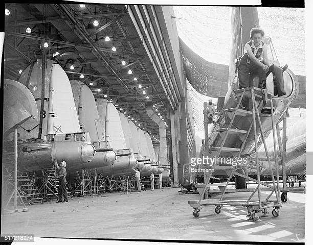 Aircraft Employees Working on B-29 Superfortresses