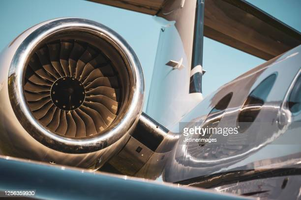 aircraft engine detail - air vehicle stock pictures, royalty-free photos & images